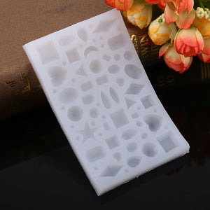 1 Pc Jewelry Making Silicone Mold Multi-functional Silicone Baking Jewelry Mold Tool for Resin Pendent Handcrafts Making New