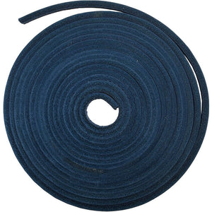 1 piece of 126 Inches Long Square-Cut Leather Lace with Lacing Needle (Navy)