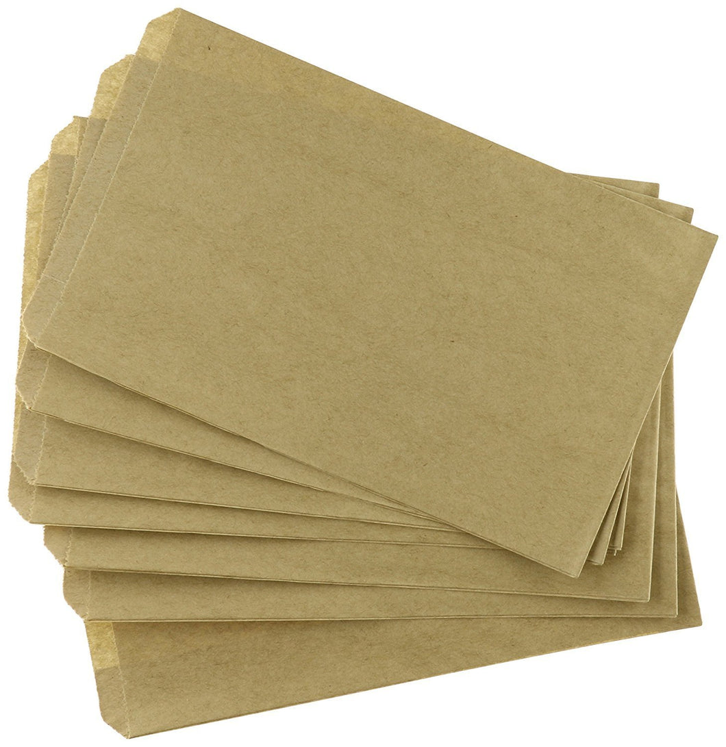 "100 pcs 4"" X 6"" Brown Kraft Paper Bags for Candy, Cookies, Doughnut, Crafts, Party favors, Sandwich, Jewelry, Merchandise, Gift bags"