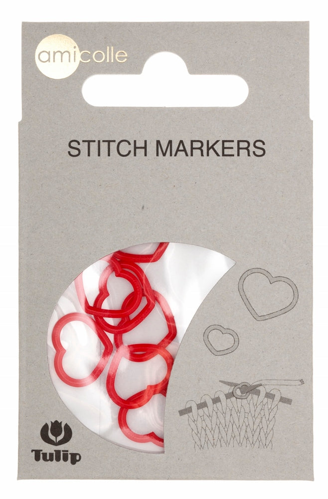 Tulip Heart Red Stitch Markers