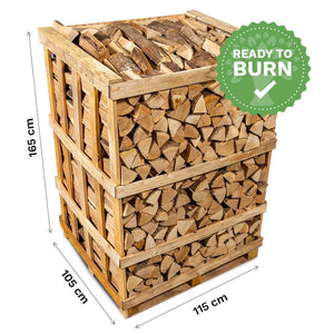 Kiln Dried Hardwood Logs. Sustainably Sourced Firewood. Includes Free Kindling.