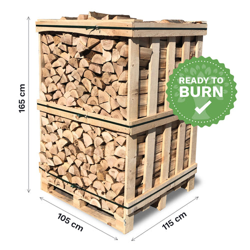 Kiln Dried Hardwood Logs. Crated.