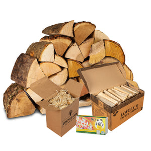Fire Starter Kit. Kiln Dried Hardwood Logs, Kindling, Firelighters and Matches