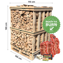 Load image into Gallery viewer, Pizza Oven Logs. Kiln Dried Hardwood Logs. Crated.