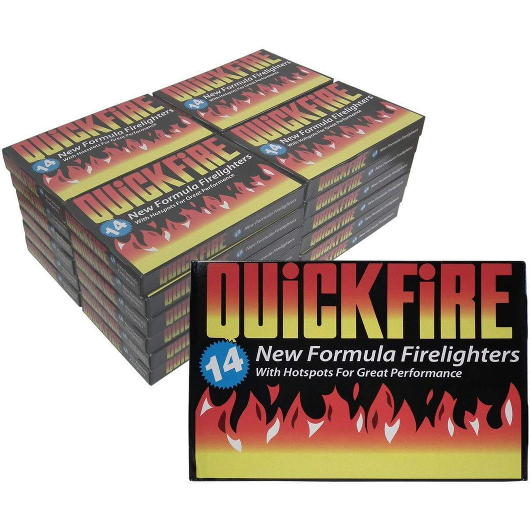 Quickfire Firelighters - 24 Boxes of 12 firelighters