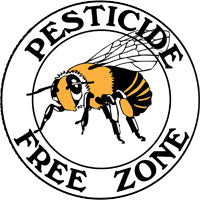 Pesticide Free Zone Yard Sign - Honey Bee