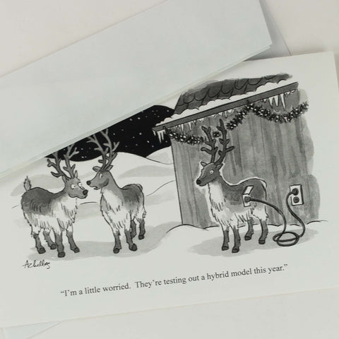 """They're testing out a hybrid model this year"", witty Christmas cards"