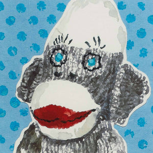 Vintage Sock Monkey: Blue Eyes
