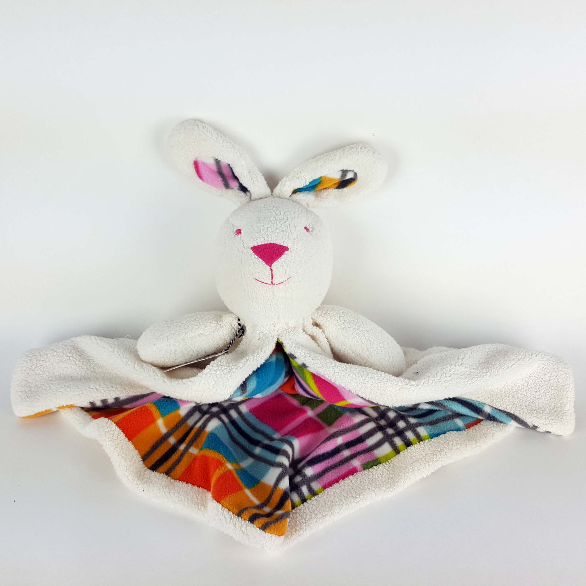Bunny Blanket, soft sculpture plushie