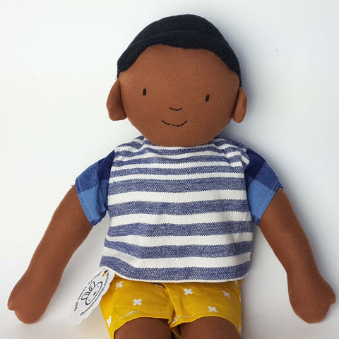 Joziah, Unique Soft Sculpture Boy Doll