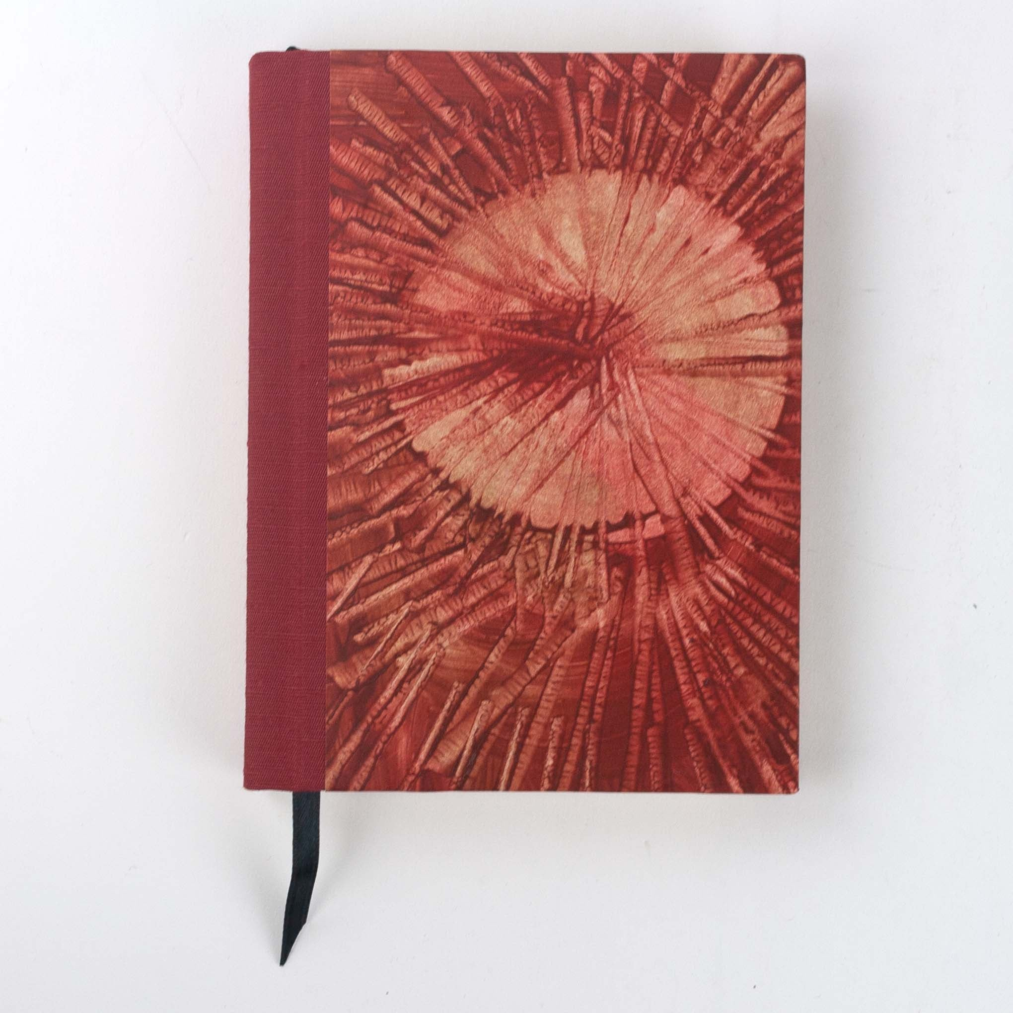 Deep Crimson Red Abstract Hardcover Sketchbook