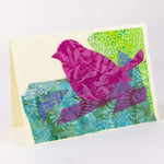 Load image into Gallery viewer, Textile Stitched Bird Cards