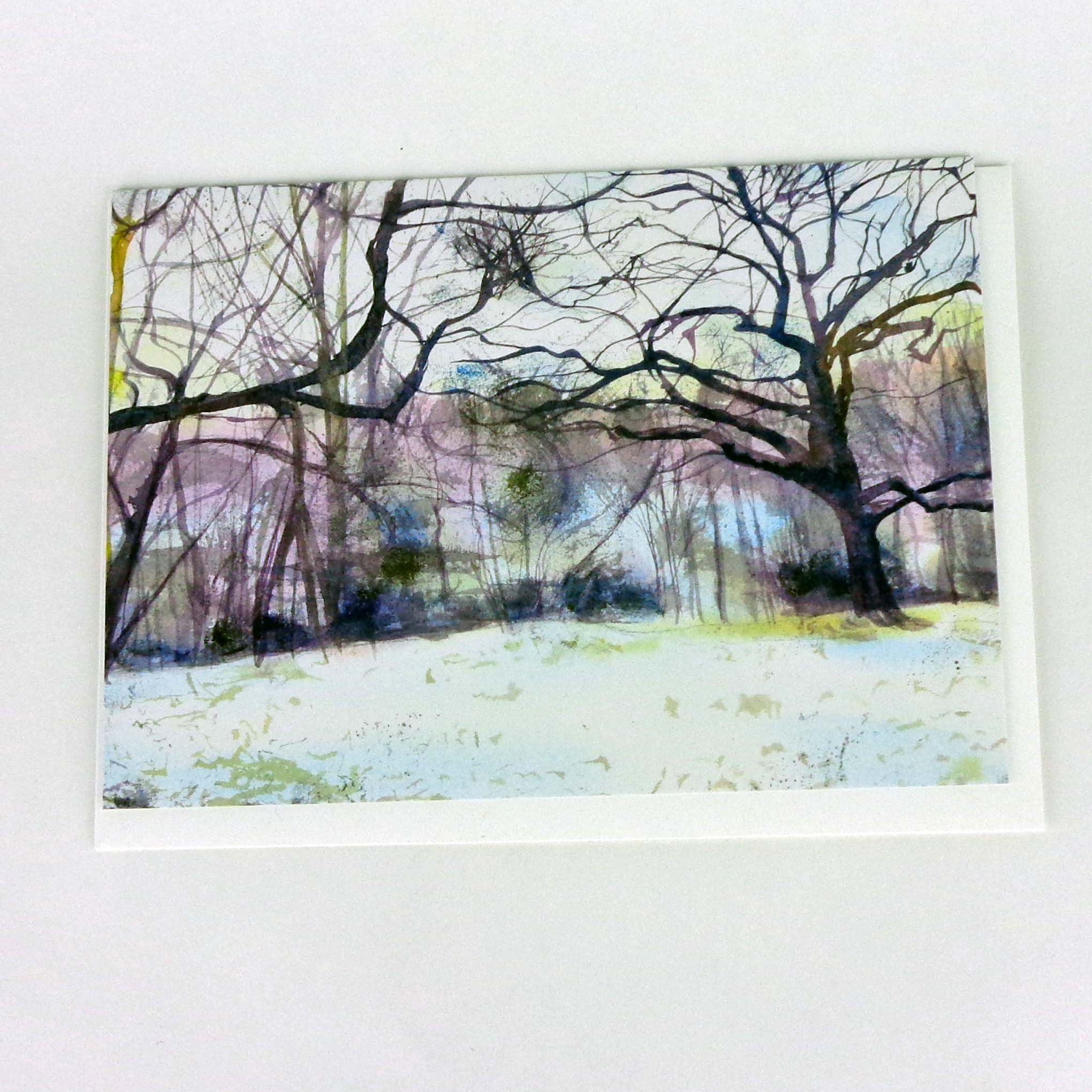 Hints of Spring Below the Snow, greeting card