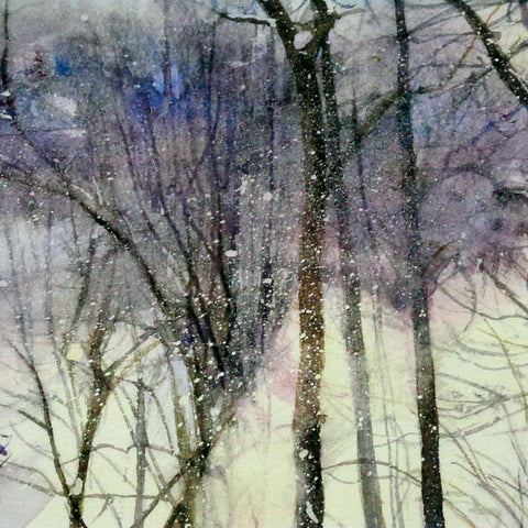 Snow in the Wind, greeting card