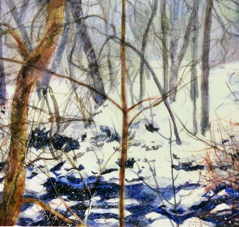 Brambles From the Snow, greeting card