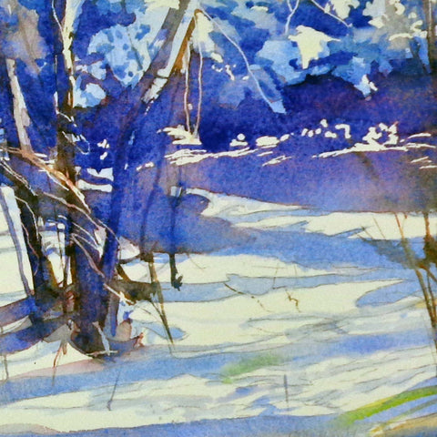 Blue Light in the Snow, greeting card