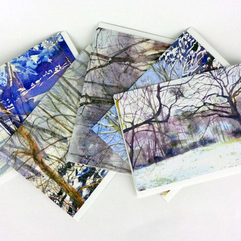 Landscape Note Card Set, 5 greeting cards with envelopes