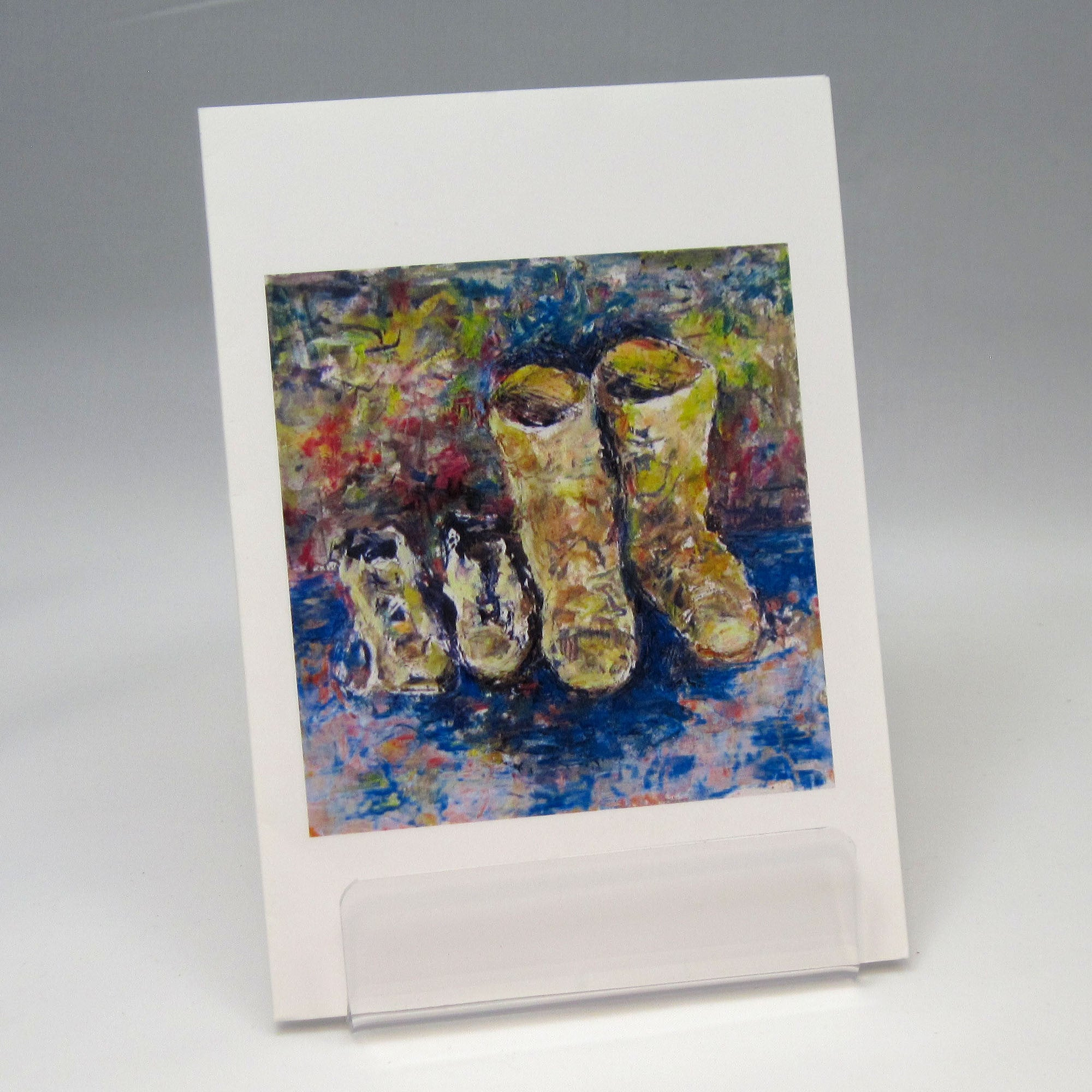 Boots, fine art greeting card