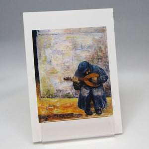 Musician, fine art greeting card