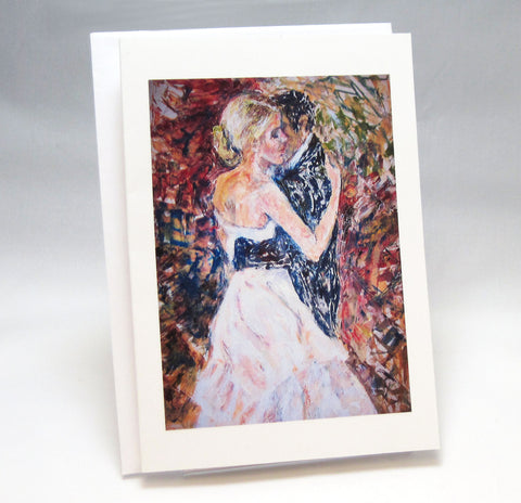 Dancing: Fine Art Greeting Card by Stephanie DiMuzio