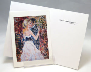 Dancing, fine art greeting card