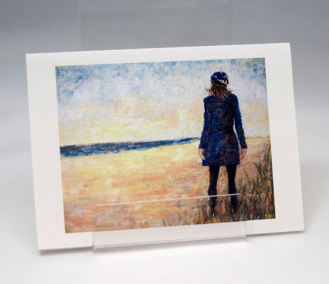 Blue Outfit: Fine Art Greeting Card by Stephanie DiMuzio