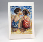 Load image into Gallery viewer, Kiss, fine art greeting card