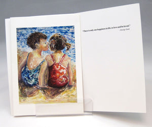 Kiss, fine art greeting card