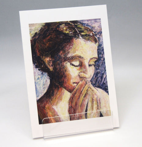 Prayer: Fine Art Greeting Card by Stephanie DiMuzio