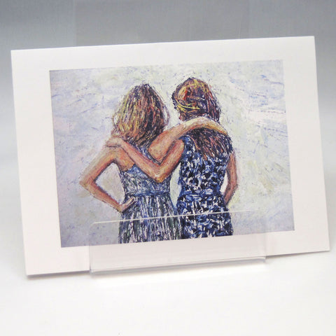 Friends Arms: Fine Art Greeting Card by Stephanie DiMuzio
