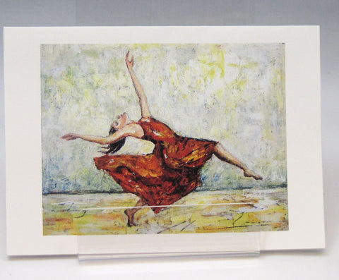 Red dress dancer fine art greeting card by stephanie dimuzio the red dress dancer fine art greeting card by stephanie dimuzio m4hsunfo