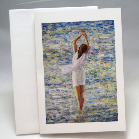 White Dress: Fine Art Greeting Card by Stephanie DiMuzio