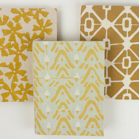 Golden Yellow Collection Repurposed Fabric Note Pads Small Size