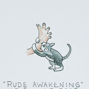Rude Awakening, greeting card