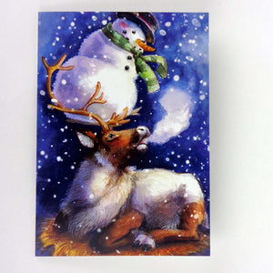Stephanie Weinger: Reindeer and Snowman Holiday Card