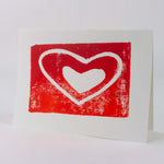 Load image into Gallery viewer, Red Heart - hand block printed