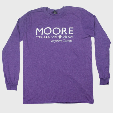 Long Sleeve Heather Purple Tee