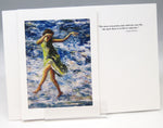 Load image into Gallery viewer, Green Dress Dancer, fine art greeting card