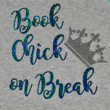 Load image into Gallery viewer, Book Chick on Break Raglan T-Shirt