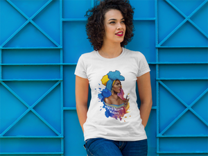 Black Woman Writing (Blue) Short-Sleeve T-Shirt