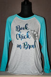 Book Chick on Break Raglan T-Shirt