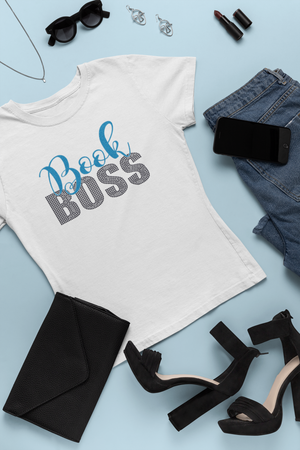 Book Boss Short-Sleeve V-Neck Tee