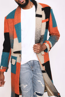 Multicolor Trench Coat