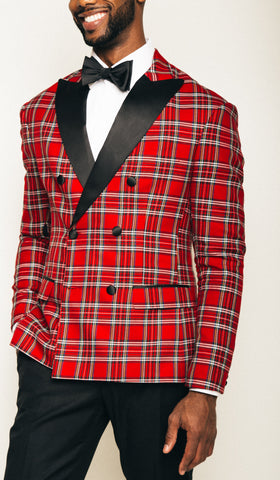 Red tartan dinner Jacket