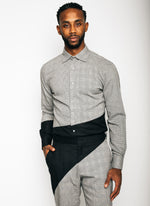 Unisex Pythagorean set Glen Plaid & Black