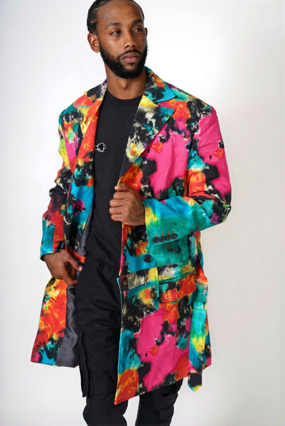 "LIMITED EDITION  ""Tie Dye"" Detachable Overcoat"