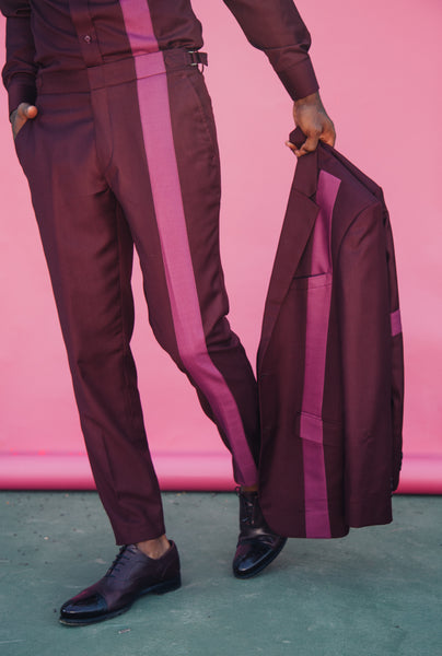 """Line it up set"" Burgundy & light Rose (TWO PIECE)"