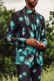 Peacock Summer suit three piece
