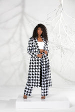 Womens Trench Houndstooth Summer Suit