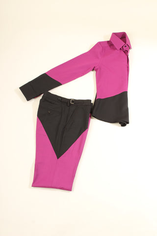 Womens Pythagorean set Pink & Black